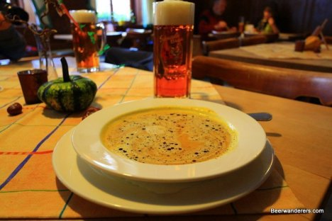 beer with soup