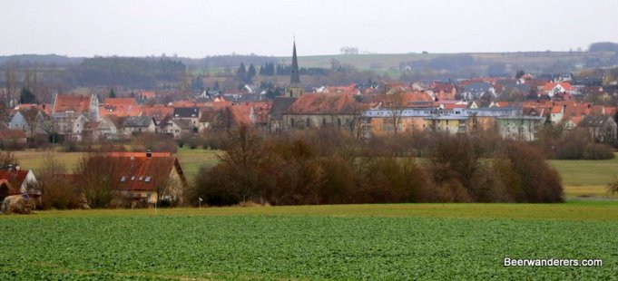 small town from distance
