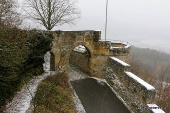 castle in winter