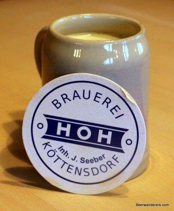 beer in krug with coast