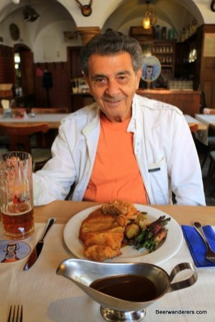 happy man with meal