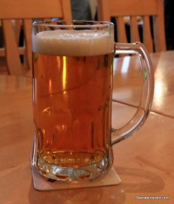 golden beer in mug