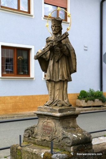 beer hiking statue of Saint John of Nepomuk