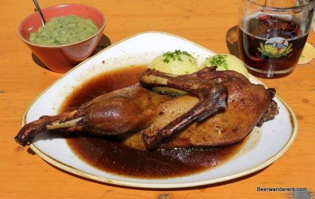duck on plate