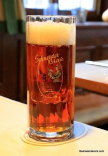amber beer in mug