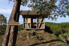 small hut on trail