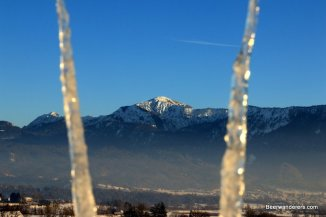 icicles and mountains