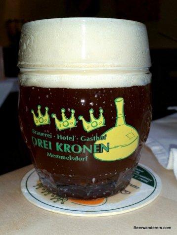amber beer in mug with huge head