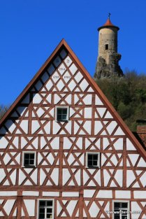 castle tower and half-timbered house