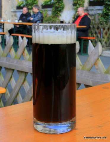 dark beer in mug