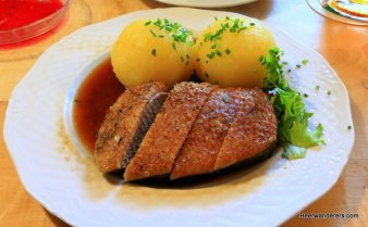 duck breast with dumplings