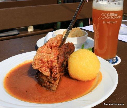 pork shoulder and beer