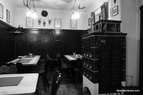 black and white pub