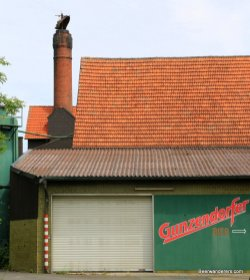 brewery with brick chimney