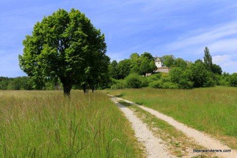 trail with church
