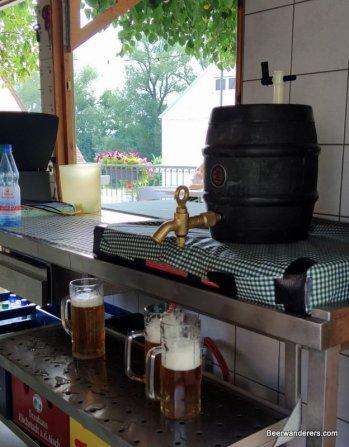 gravity dispense beer barrel