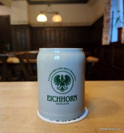 beer in ceramci mug