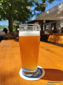 cloudy beer in glass