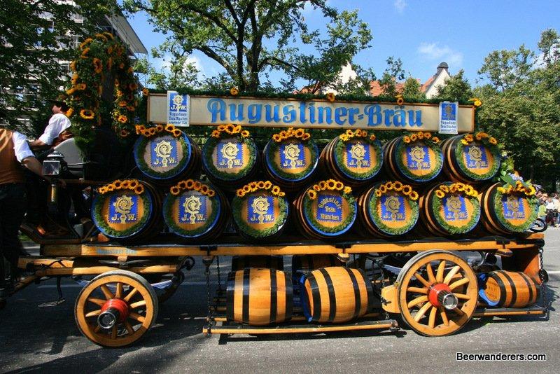 beer wagon at oktoberfest