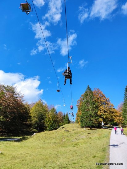 chair-lift in mountains
