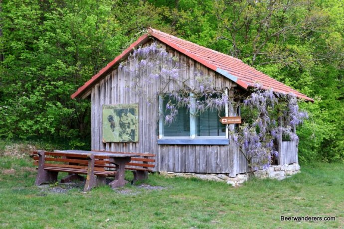 hiking shelter in wisteria