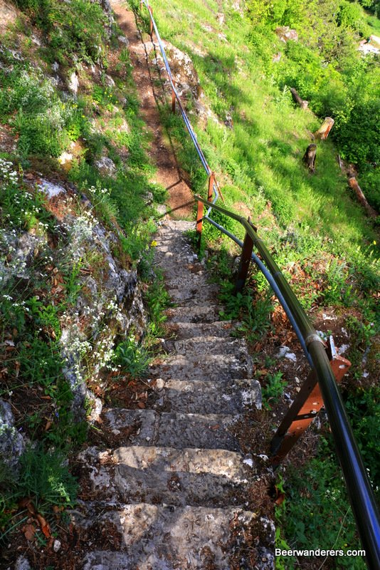 stone stairs on hike