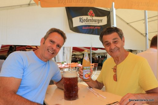two guys at beer festival