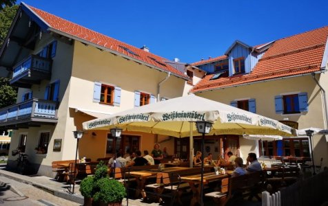 restaurant with sun umbrellas