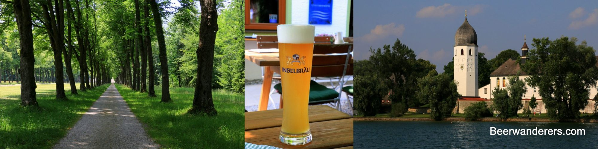 forest trail weissbier lake with church