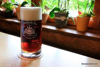 dark beer in pub