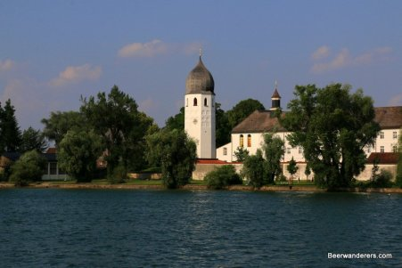 monastery from boat