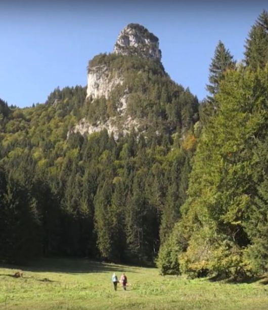 hikers walking to peak