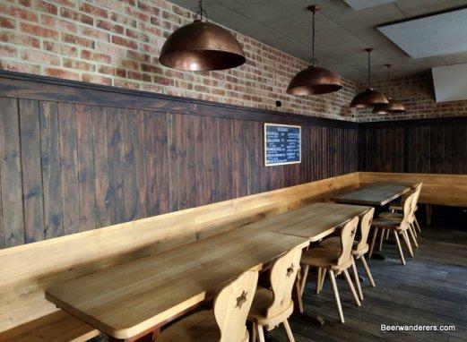 interior of pub restaurant