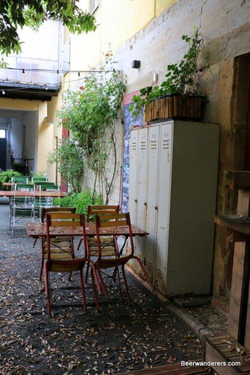 courtyard area of pub