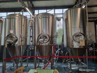 storage tanks in brewery