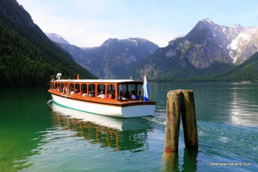 boat on mountain lake