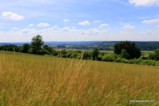 open meadow with views of countryside