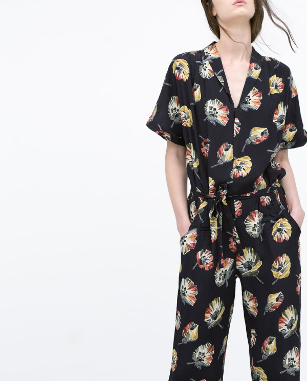 Zara, Floral Jumpsuit