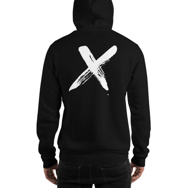 """Men's hoodie """"black X"""" high quality"""