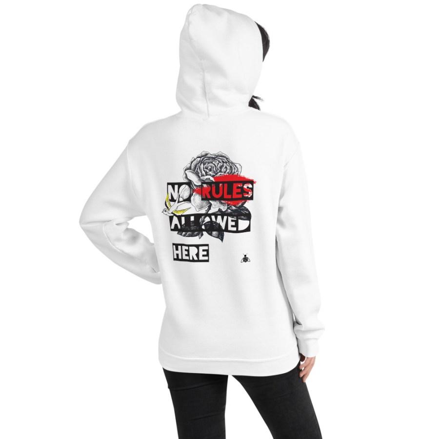"Women hoodie ""No Rules' high quality"