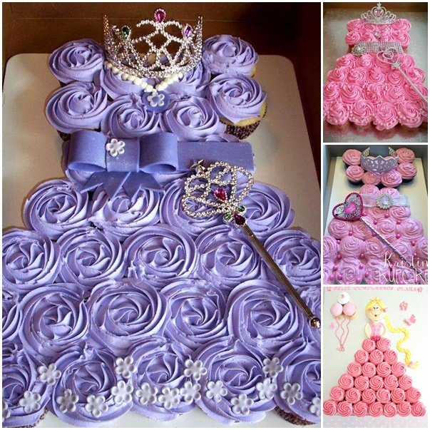 How To Make Princess Pull Apart Cake | BeesDIY.com