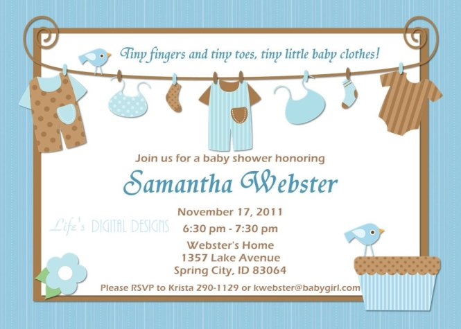 Baby Shower Invitation Templates