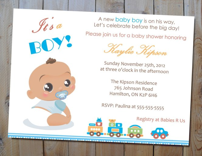 The Best Wording For Boy Baby Shower Invitations Free