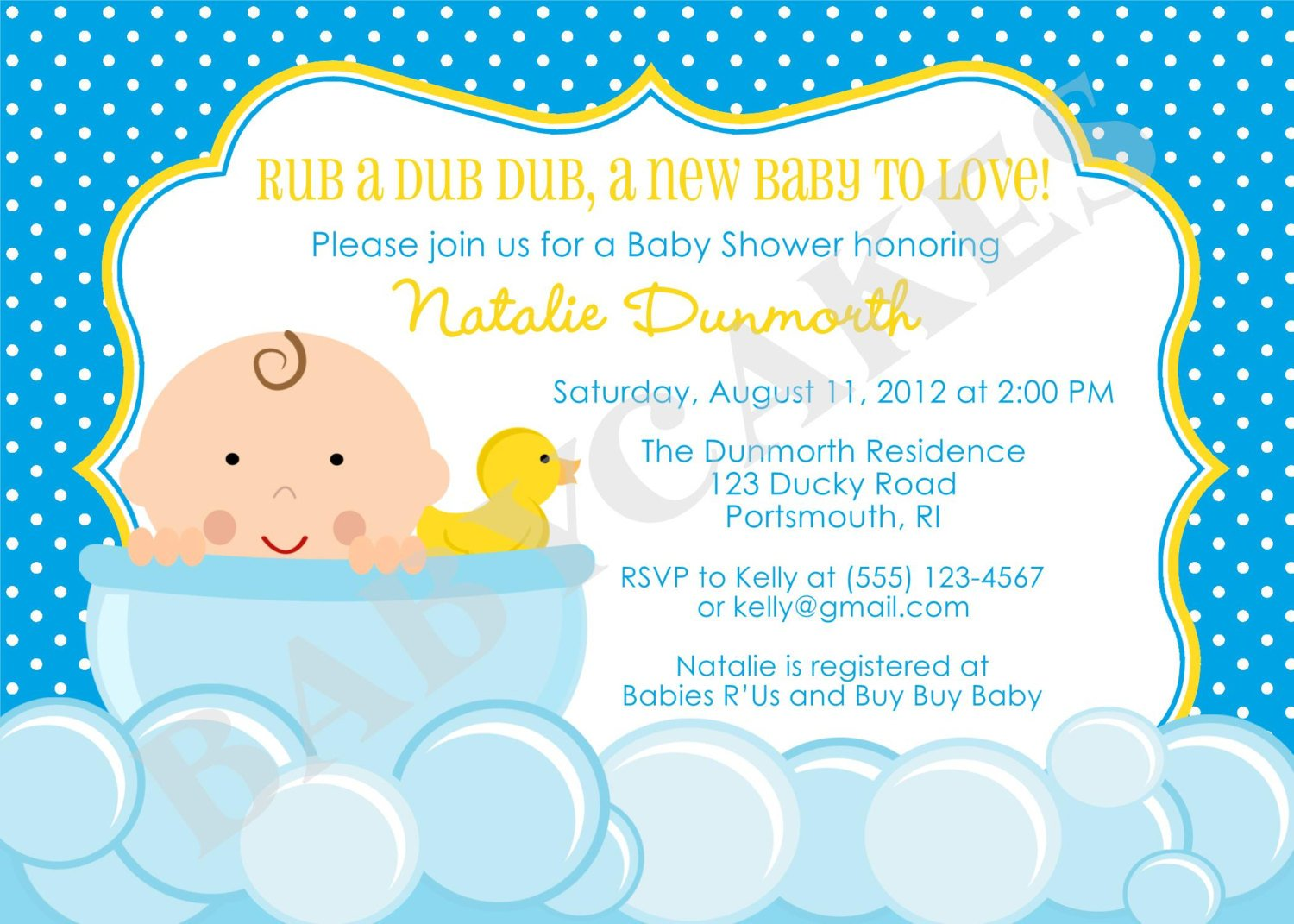 Yellow Rubber Ducky Baby Shower Ideas