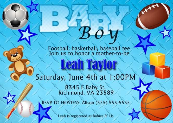 Baseball Baby Shower Invitations Free Printable