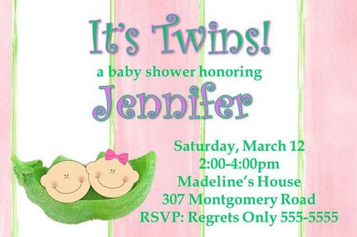 twin baby shower invitation templates, Baby shower invitations