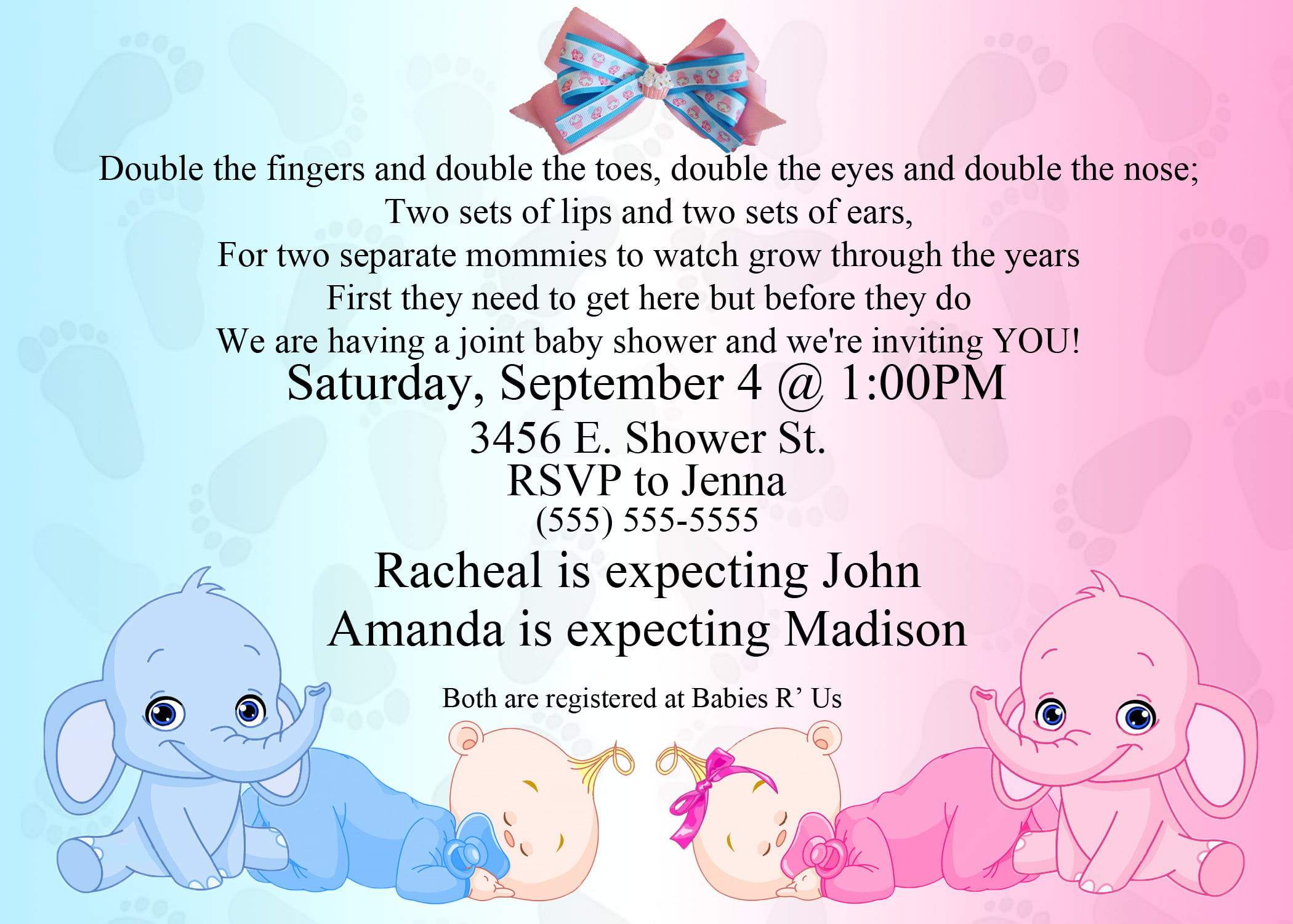 Baby Shower Invitations Templates Free