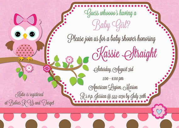 Design Your Own Baby Shower Invitations