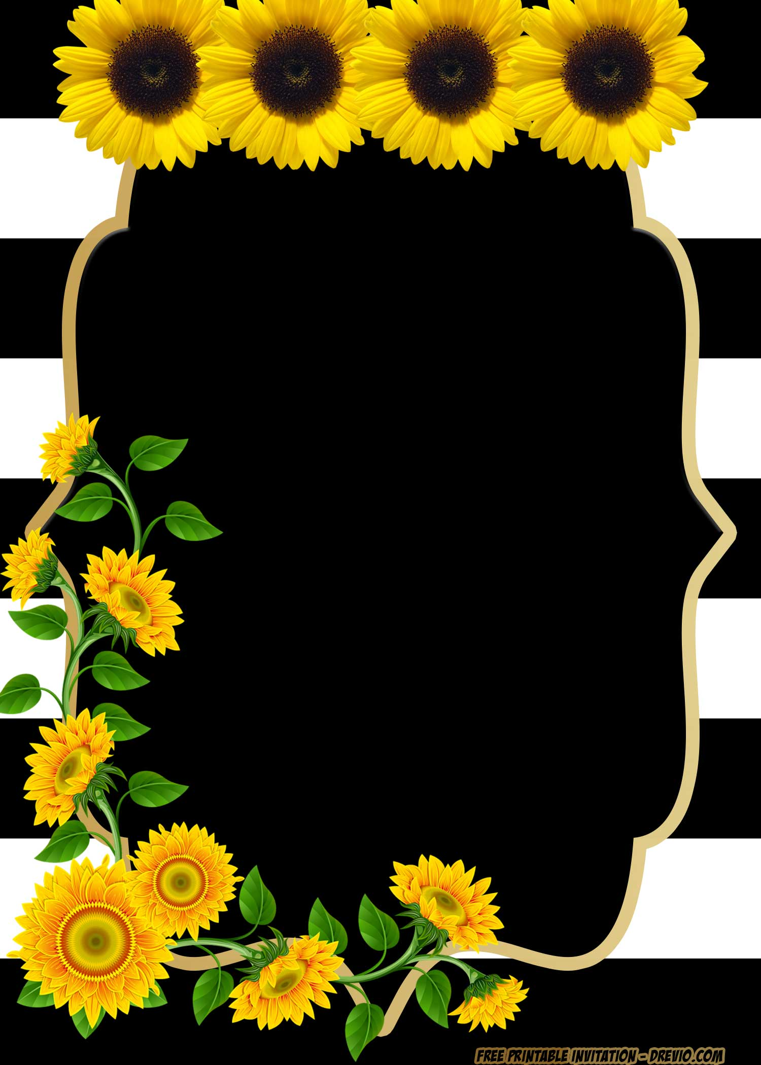 Free Printable Beautiful Flower Baby Shower Invitation