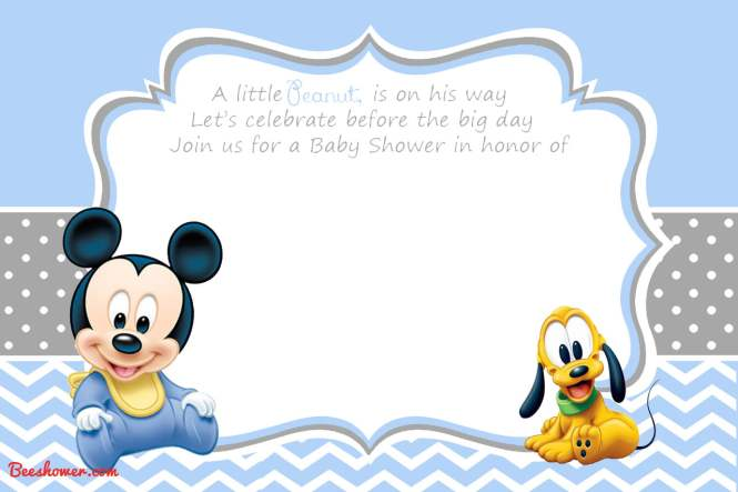 Free Printable Mickey Mouse Baby Shower